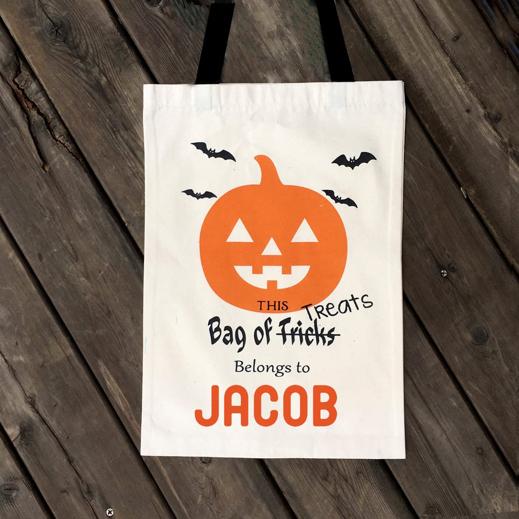 """This Bag of Treats Belongs to . . . "" Personalized Tote"