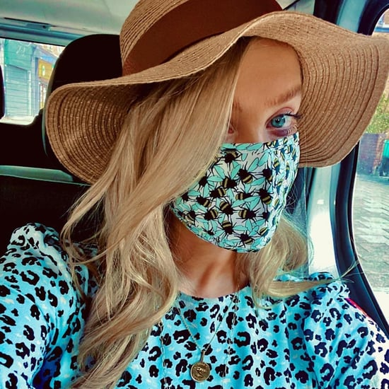 Shop Laura Whitmore's Bee Face Mask and Matching Blue Dress
