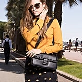 Riley Keough Wearing a Fendi Vintage Baguette