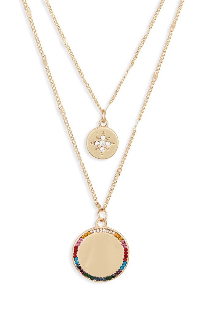 BP. Set of 3 Crystal Disc Pendant Necklaces