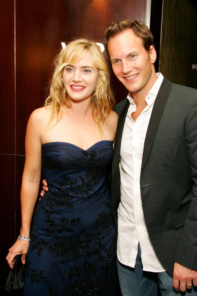 Kate Winslet cozied up to her Little Children costar Patrick Wilson in 2006.