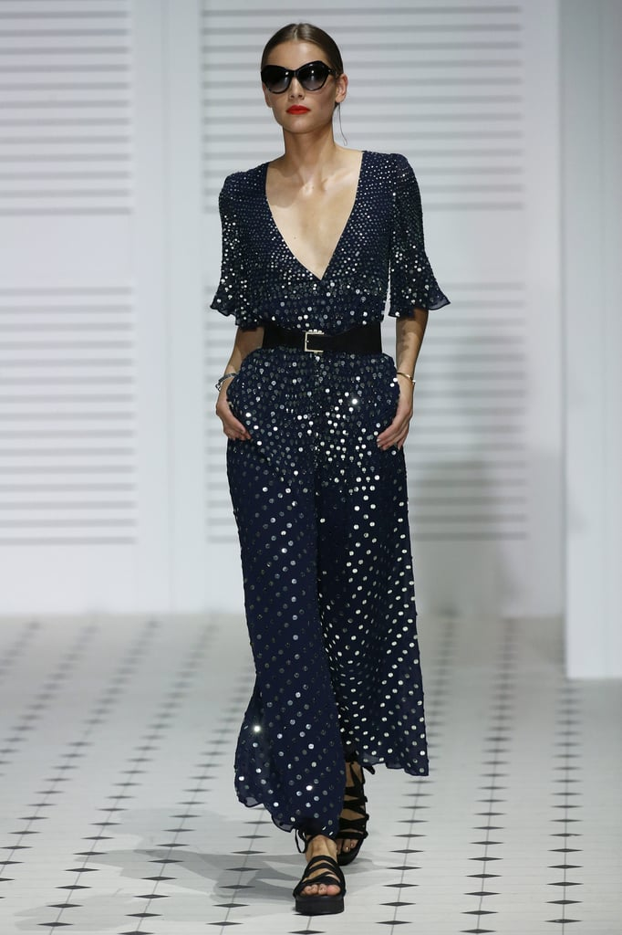 We hope Kate shops the latest Temperley collection for some festive evening wear. We love the longer flutter sleeves and midnight navy shade of this design.