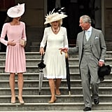 Prince Charles engaged Kate, alongside Camilla, at a Garden Party in 2012.