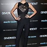 Shailene Woodley in an Elie Saab Jumpsuit at the 2014 Divergent NYC Screening