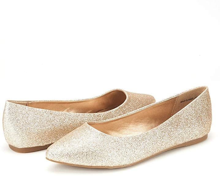 Dream Pairs Sole Classic Fancy Glitter Flats