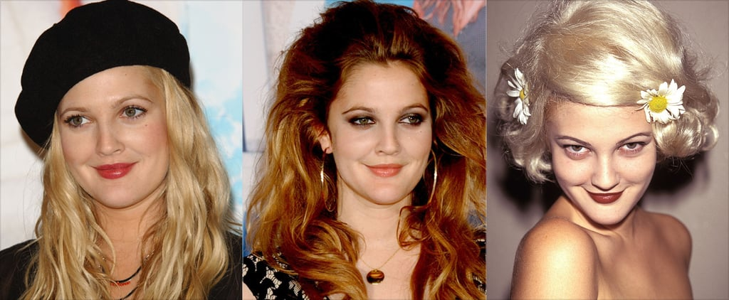 Drew Barrymore's Best Hair and Makeup Moments
