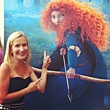 Angela Kinsey sported a Target dress at the Brave premiere. Source: Instagram user angekinz