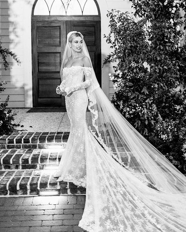 Shop Wedding Dresses Similar to Hailey Bieber's