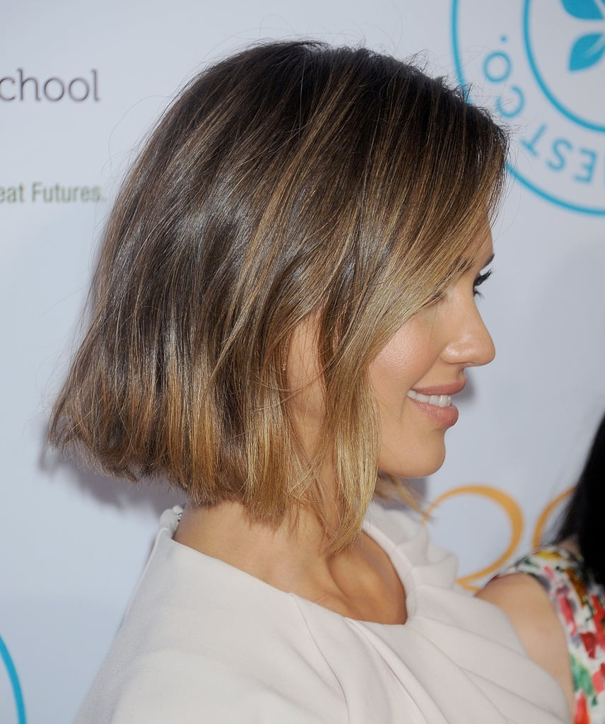 Jessica Alba Bob Haircut 2015 Popsugar Beauty