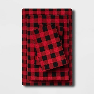 Wondershop Holiday Print Flannel Sheet Set