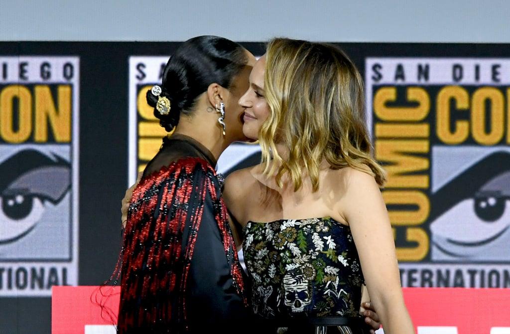Natalie Portman Blond Highlights at Comic-Con 2019