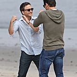 Mark-Paul Gosselaar and Breckin Meyer Go Shirtless to Film Franklin and Bash