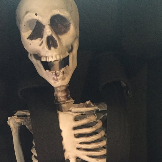 Skeleton Demonstrates Proper Child Car Seat Placement