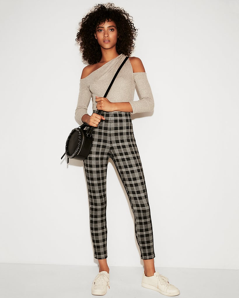 b0096032faf47e Express High-Waisted Cropped Plaid Leggings | Comfortable Pants From ...