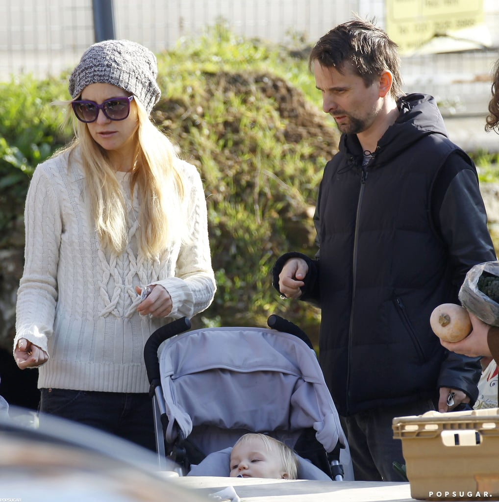 Kate Hudson and Matthew Bellamy visited a farmers market in London with their son Bingham.