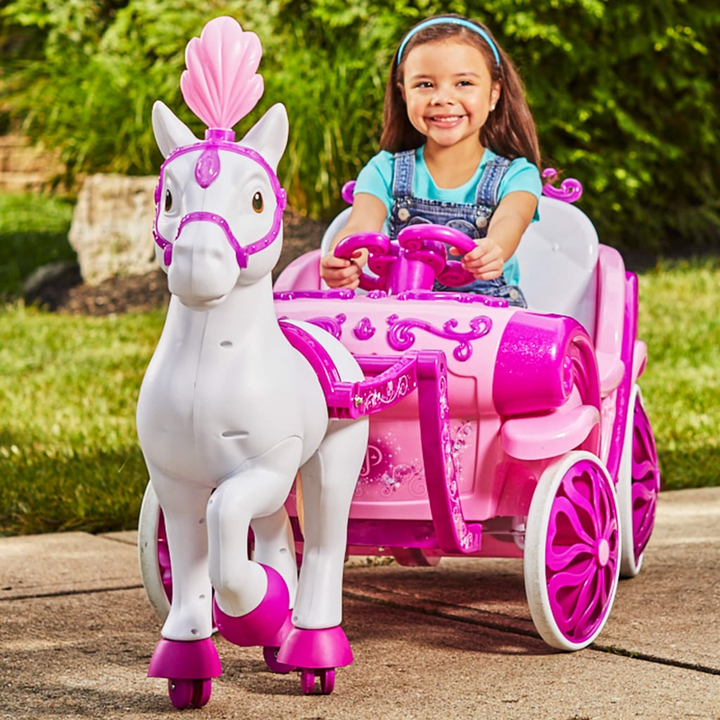 For 6-Year-Olds: Disney Princess Royal Horse and Carriage Girls 6V Ride-On Toy
