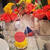 This White Label wedding theme has lots of color, plus lemon heads for the guests.