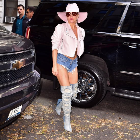 Celebrities Wearing Thigh-High Denim Boots