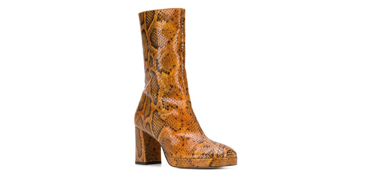 official photos c72e4 b3f3b Miista Carlota Boots   Kendall Jenner s Yellow Snakeskin Boots   POPSUGAR  Fashion Photo 11