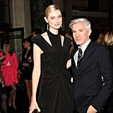 Actress Elizabeth Debicki hung out with her director, Baz Luhrmann, at a special The Great Gatsby preview dinner held by Tiffany & Co. in Sydney on May 23.