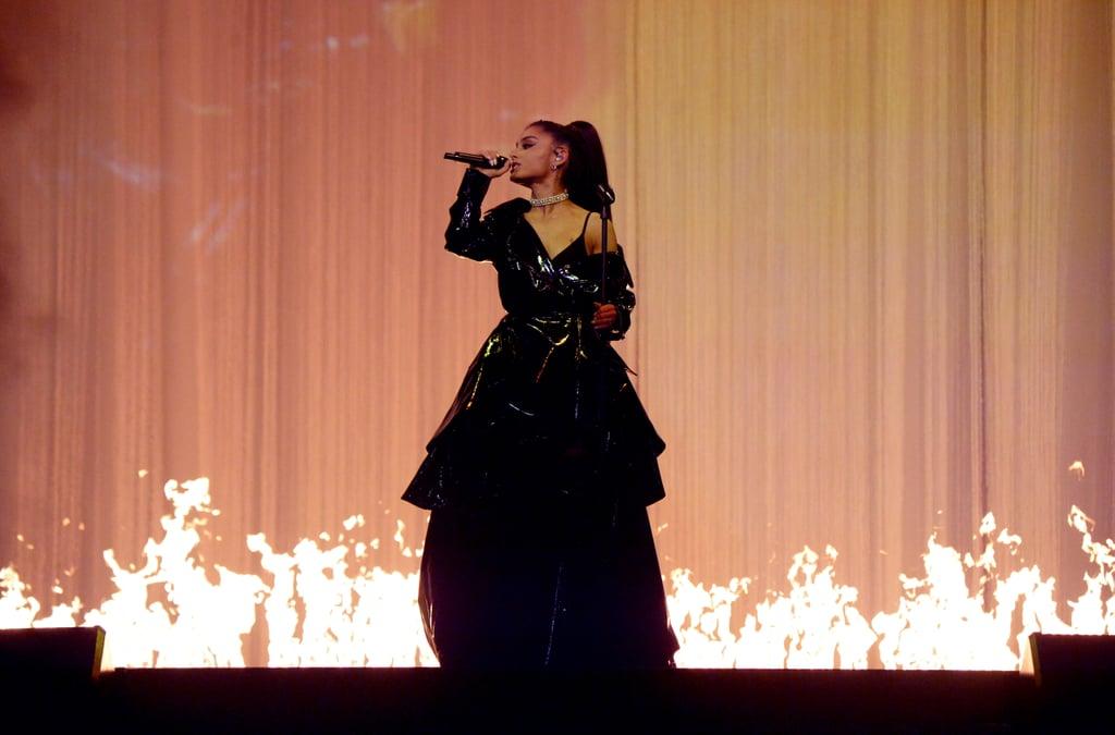 Ariana Grande in Sergio Hudson