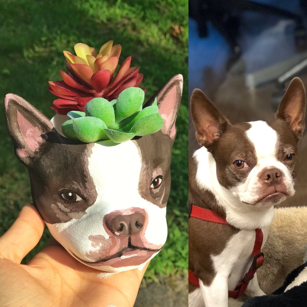 "Dogs and succulents are two things we never thought we'd say in the same sentence, but as two of our hands-down favorite things, when they come together, we can't help but be obsessed. During a scroll through Etsy, we stumbled upon Meow3D, a shop that makes custom-painted planters based entirely on a photo of your pet's face. Seriously, the planters are so spot-on, we can't wait to order one for ourselves. Whether you're using it to house a fake succulent or flexing your green thumb to keep a plant inside, it's the cutest addition to your home.  The planters come in three sizes — standard ($120), large ($149), and mega ($199) — and all you have to do is send a picture of your pup to the shop after purchasing to get the process started. The product page on Etsy shared that ""all dog breeds are welcome!,"" and with a five-star rating, we're just about ready to slam ""add to cart."" Check out photos of some adorably realistic planters crafted ahead, and shop yours.      Related:                                                                                                           21 Genius Craft Kits For Adults on Amazon That'll Keep You Busy Indoors"