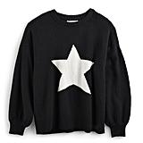 Graphic Balloon-Sleeve Sweater
