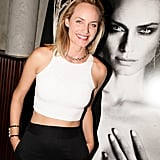 Amber Valletta hit the scene in black and white at Interview's Fashion Week bash.