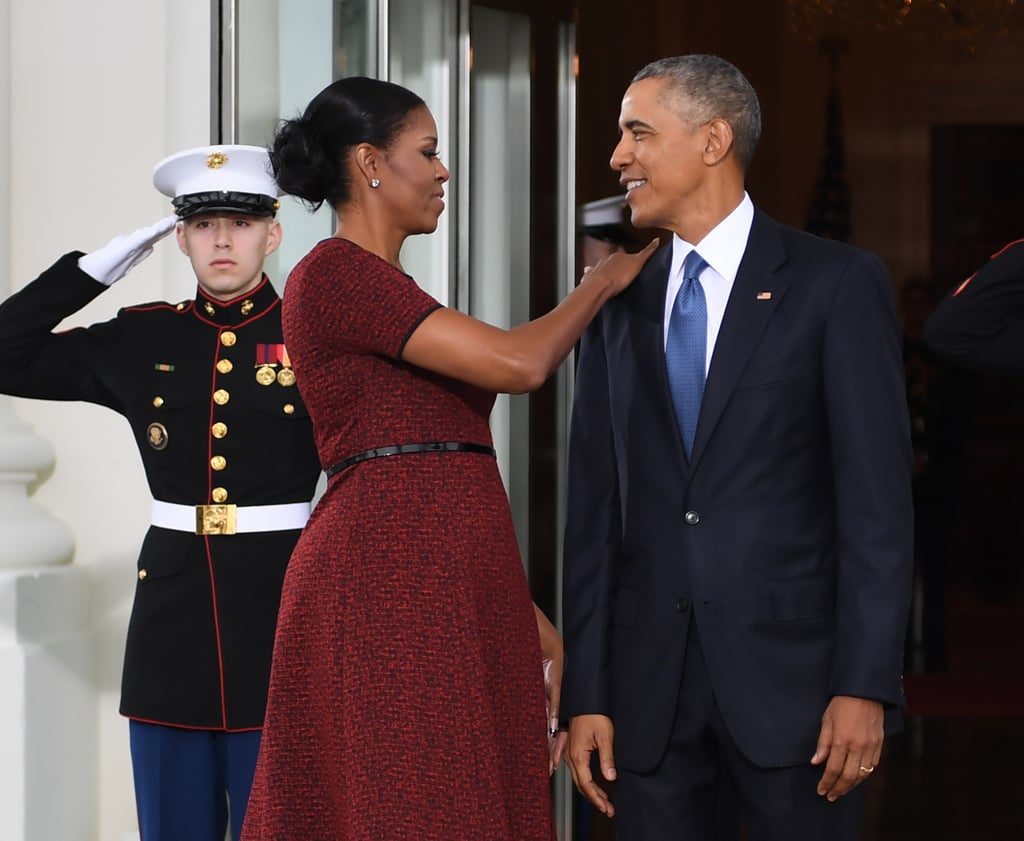 Michelle Obama Red Dress at Inauguration 2017 | POPSUGAR Fashion ...