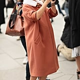 Mirsoslava Duma is usually the subject of street-style, but the Russian fashion darling snapped a pic on her way to the shows.