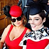 Kate Upton and Coco Rocha watch the Melbourne Cup in style. Source: Instagram user cocorocha