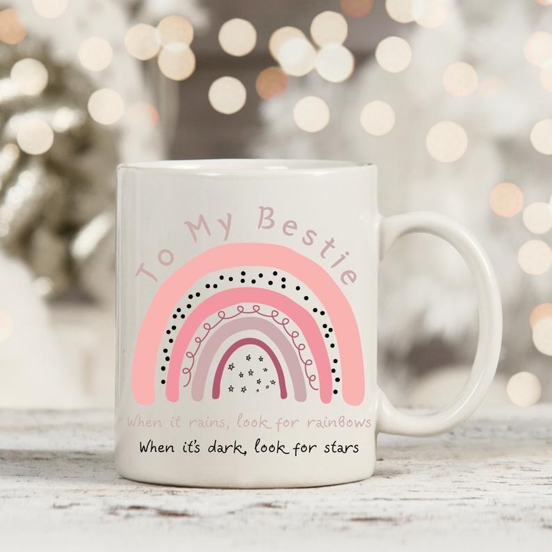 Uplifting Bestie Rainbow Mug