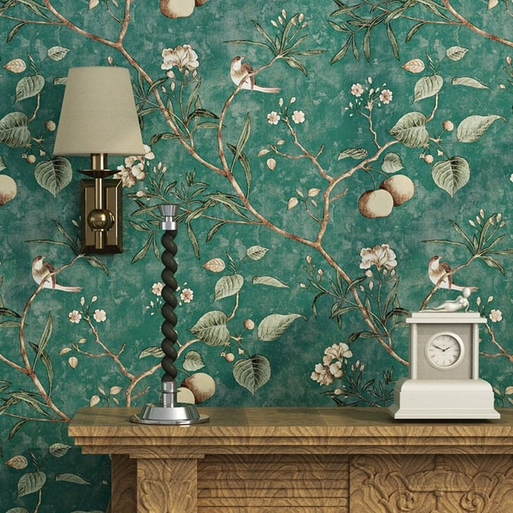 51 Luxury Living Rooms And Tips You Could Use From Them: Blooming Wall Vintage Flower Wallpaper