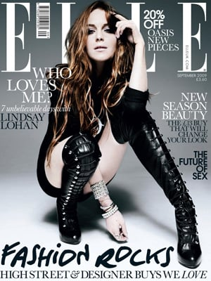 Lindsay Lohan for Elle Magazine Behind the Scenes Cover Shoot with Rankin Dior Jewellery