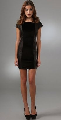Alice + Olivia Leather Dress
