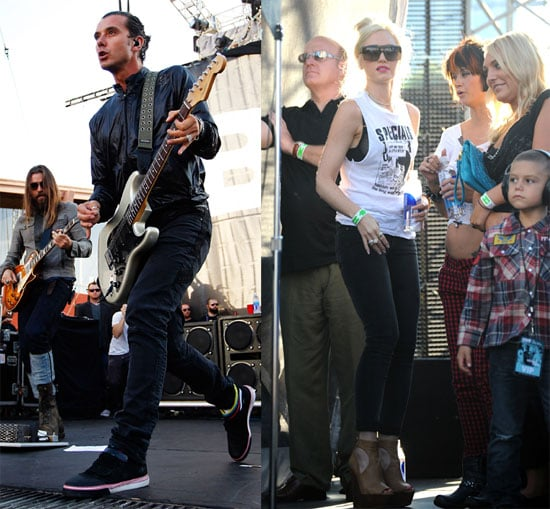 Gavin Rossdale Hits the Stage With Gwen, Zuma, and Kingston Watching From the Wings