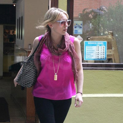 Hilary Duff Goes Out to Lunch in LA with Mike Comire