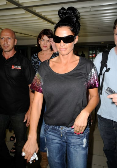 Katie Price leaving Australia and flying home after Peter