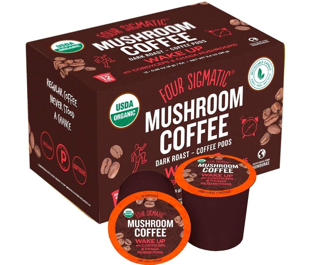 Four Sigmatic Mushroom K-Cup Coffee Pods With Chaga and Cordyceps