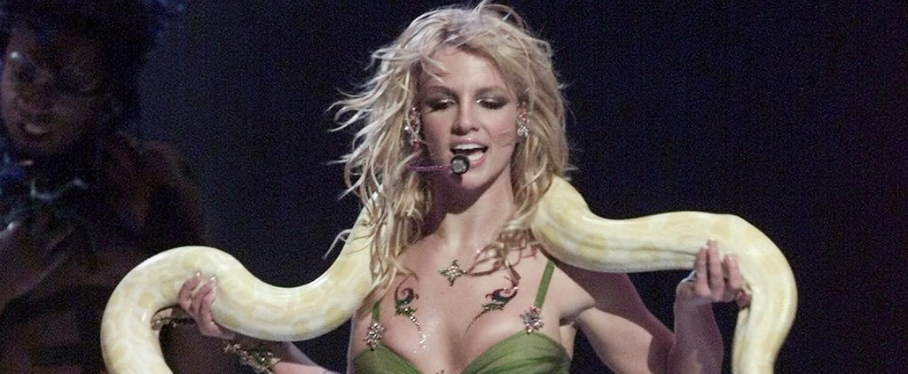Britney Spears's 2001 VMAs Outfit With the Snake