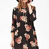 Forever 21 Rose Print Shift Dress