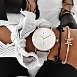 MVMT Bloom Leather Strap Watch