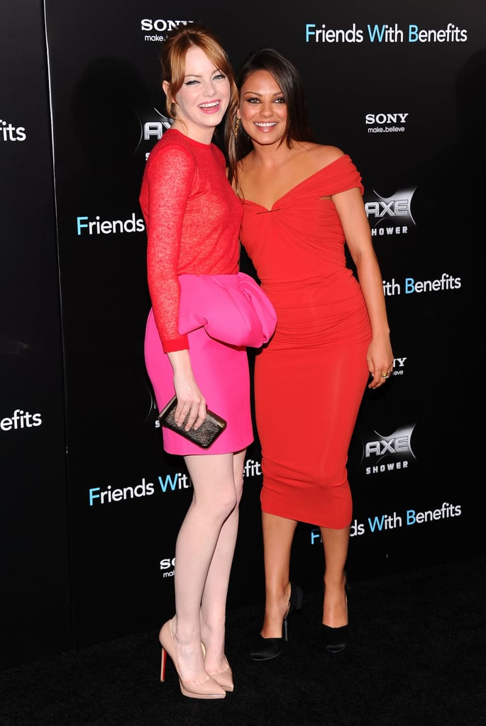 Emma Stone and Mila Kunis at Friends With Benefits premiere in NYC.