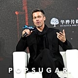 Brad Pitt at Allied Press Conference in China November 2016