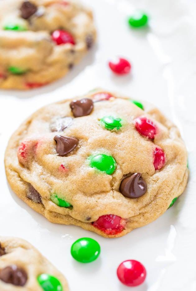 M M Chocolate Chip Cookies Easy Christmas Cookies Popsugar Food
