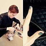 Coco Rocha did up her nails. Source: Instagram user cocorocha