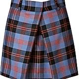 McQ Alexander McQueen Front Pleat Plaid Skirt