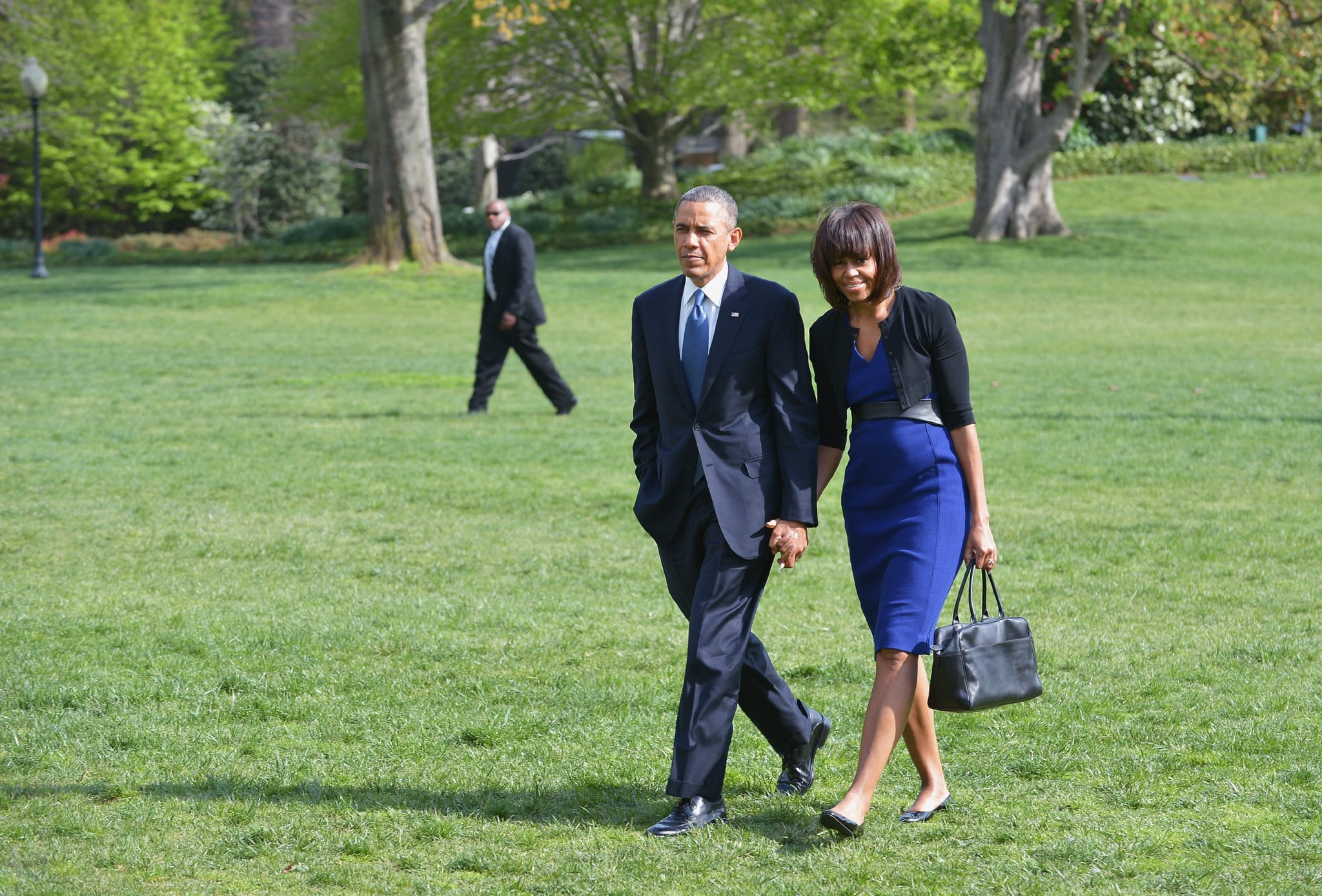 President Obama and Michelle Obama stepped out together in matching shades of blue in mid-April.