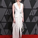Emma Chose a White, Military-Inspired Gown For the 9th Annual Governors Awards