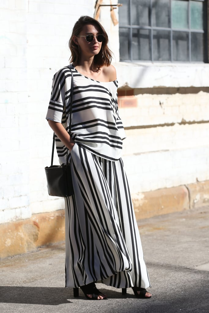 Black and white stripes are bold enough to make a statement all on their own — no rainbow colors required.